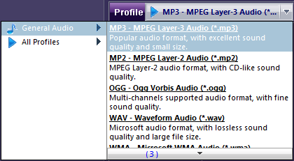 how to change mp3 to aac