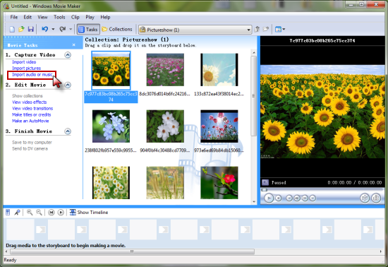 Import iTunes music into Windows Movie Maker